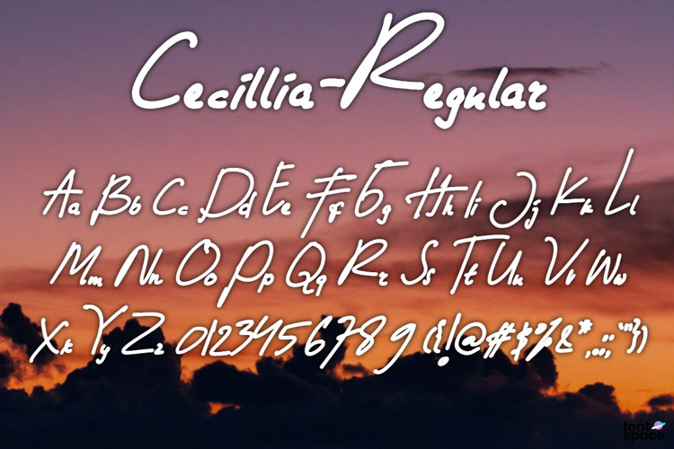 Cecillia - Regular Font