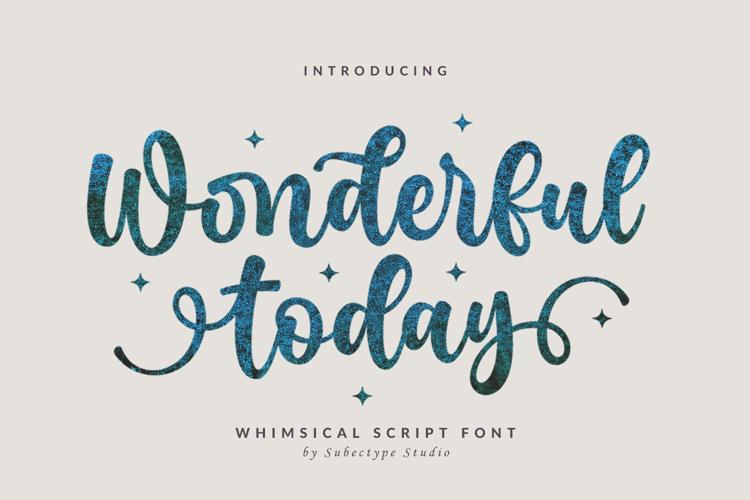 Wonderful Today Font