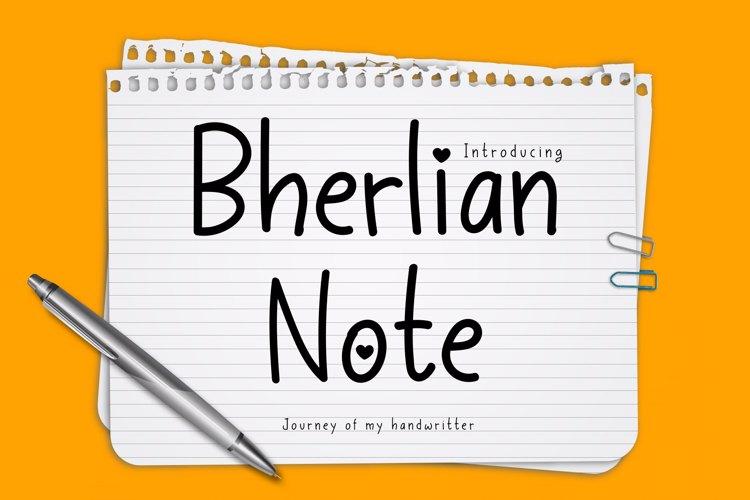 Bherlian Note Font