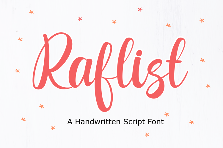 Raflist Font