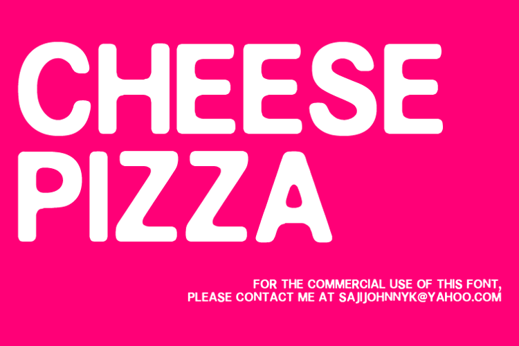 CHEESE PIZZA Font