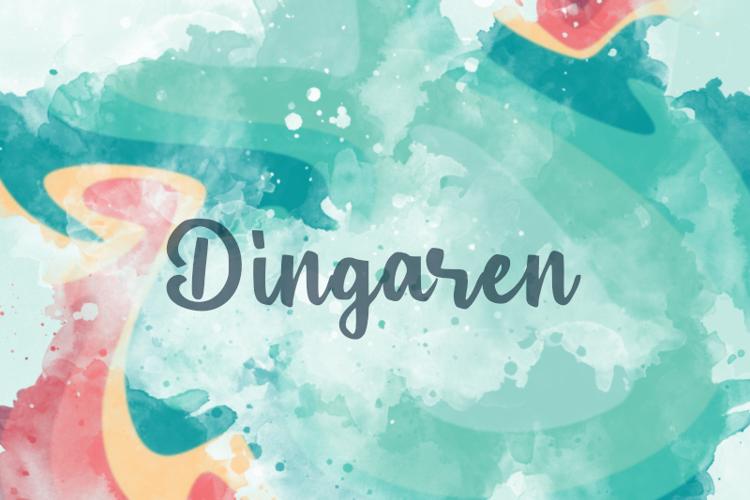 d Dingaren Font