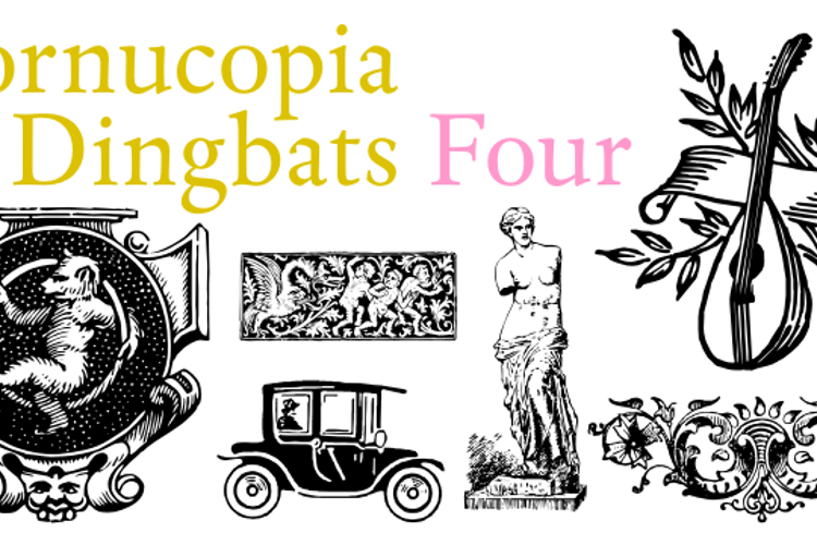 Cornucopia of Dingbats Four Font