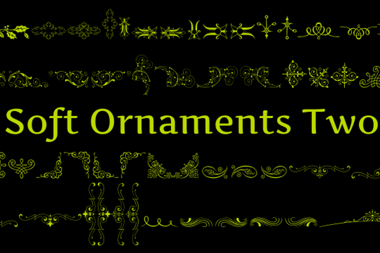 Soft Ornaments Two Font