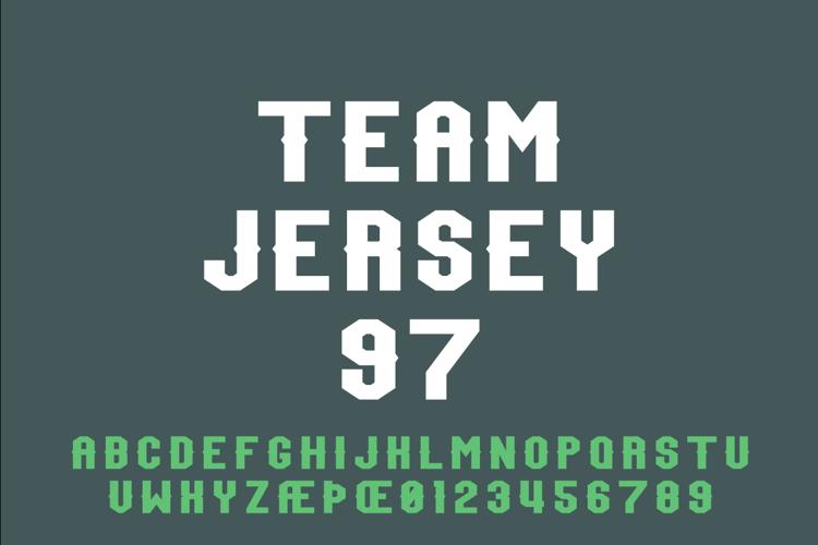 Team Jersey 97 Font