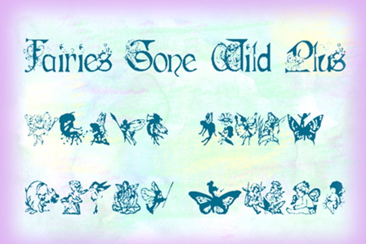Fairies Gone Wild Plus Font