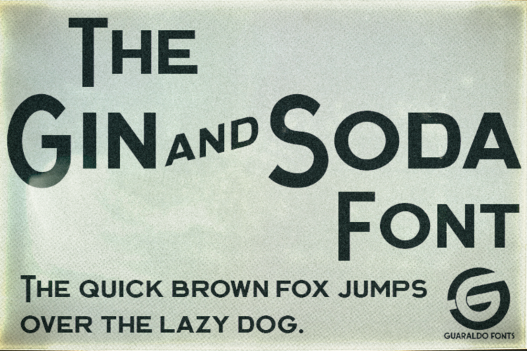 Gin and Soda Font