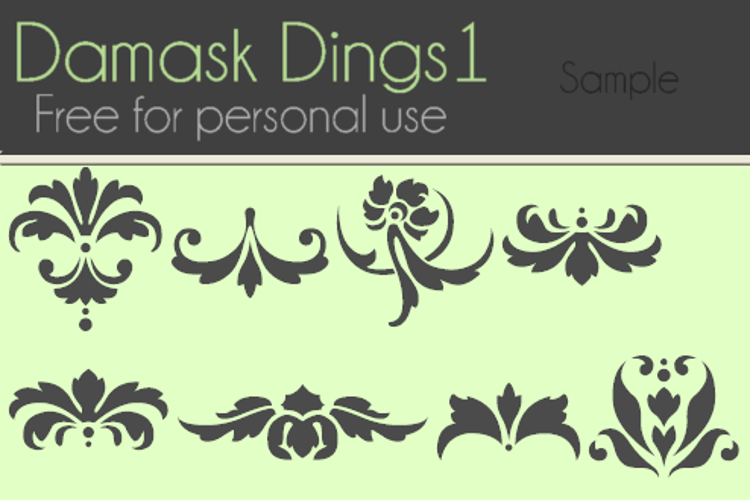 Damask Dings1 Font