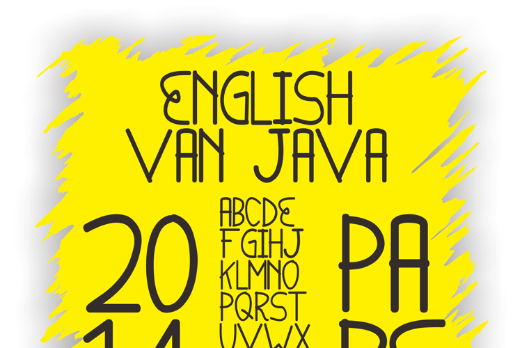 English van Java Font