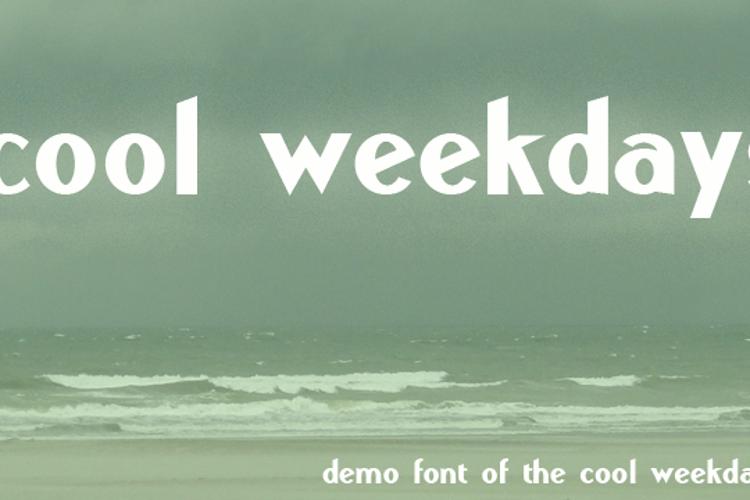 Cool Weekdays Demo Font
