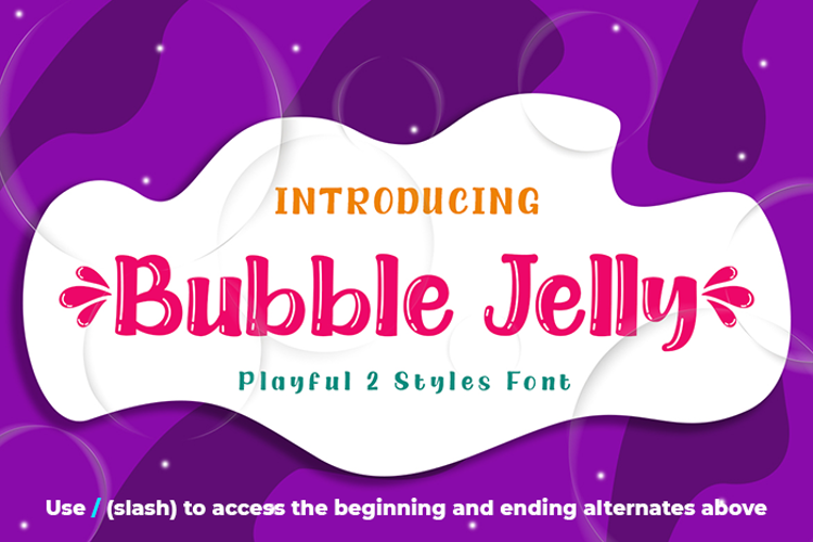 Bubble Jelly Font