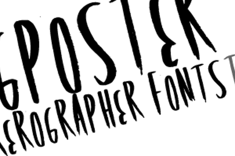 RockingPoster Font