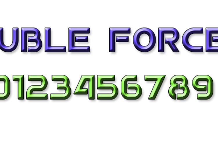 Double Force 7 Font