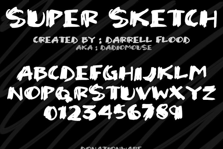 Super Sketch Font