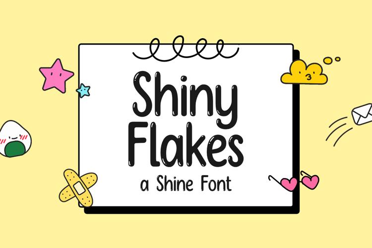 Shiny Flakes Font