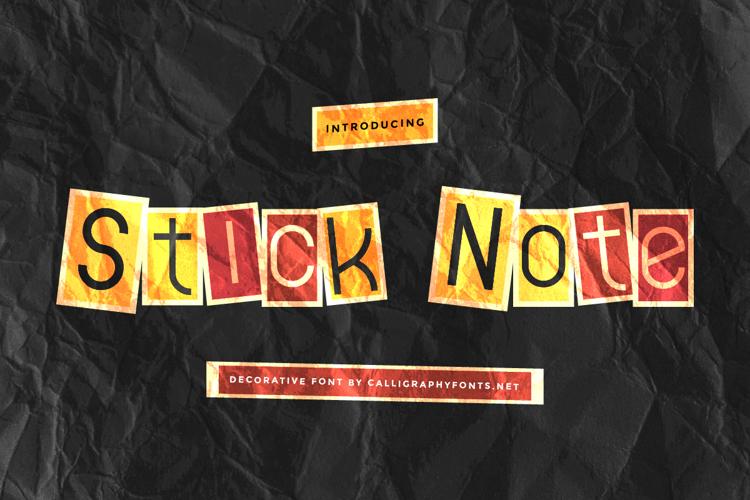 Stick Note Font
