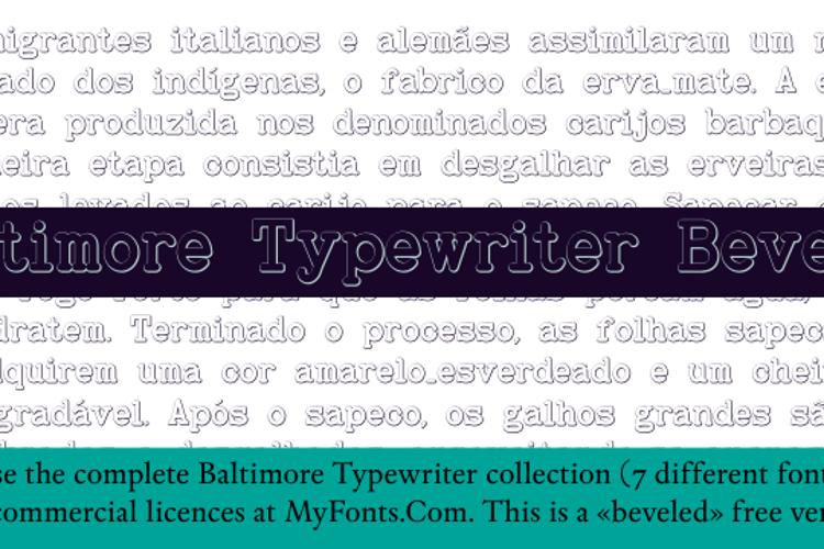 Baltimore Typewriter Bold Beveled Font