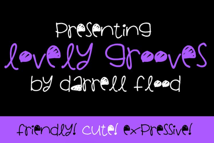 Lovely Grooves Font