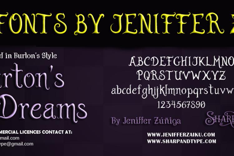 Burton's Dreams Pro Font