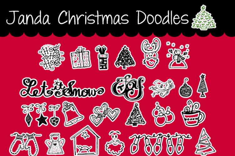 Janda Christmas Doodles Font