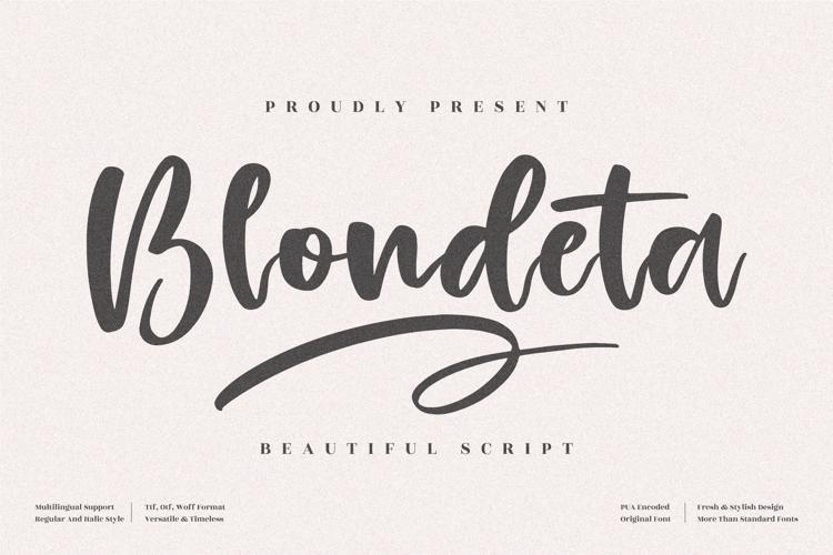 Blondeta Font
