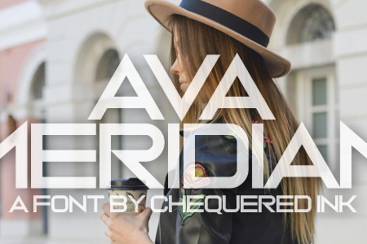 Ava Meridian Font