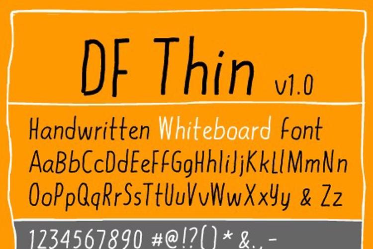 DF Thin Font