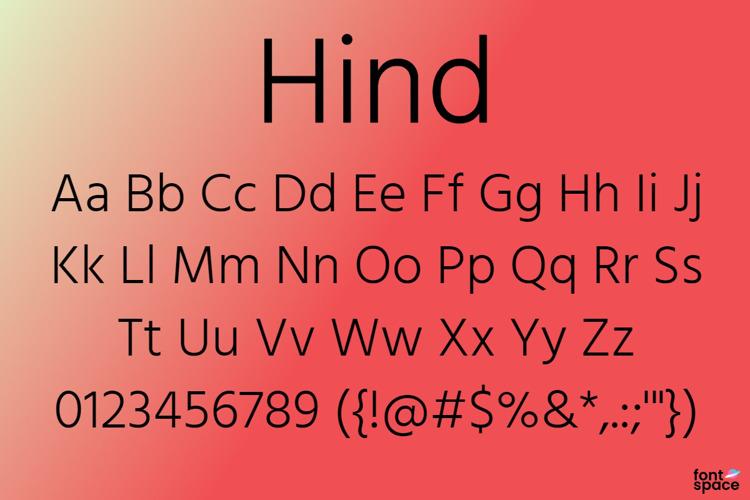 Hind Font