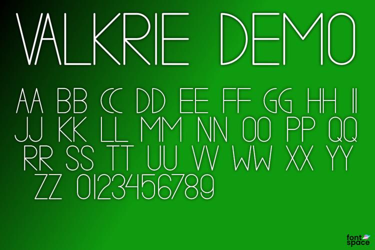 VALKRIE Font