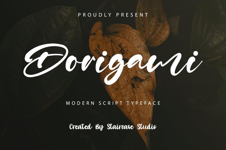 Dorigami Font