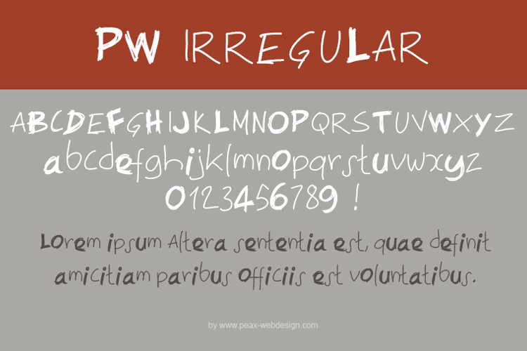 PWIrregular Font