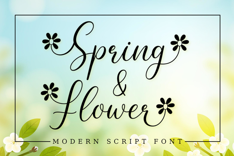 Spring Flower Font