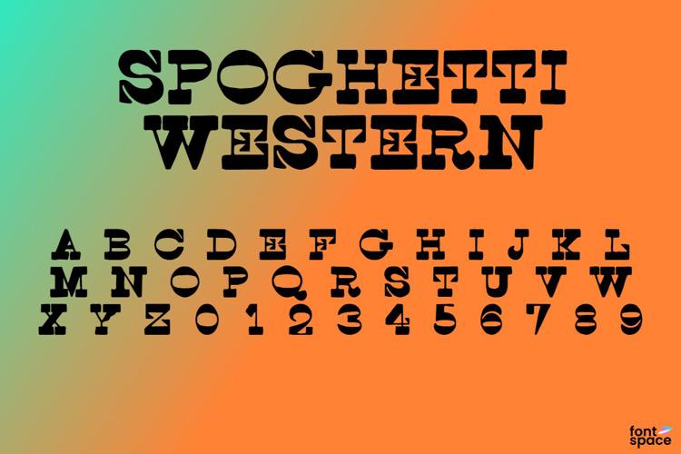 Spoghetti Western Font