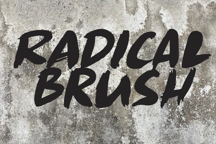 Radical Brush Font