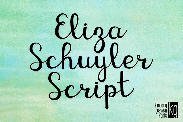 KG Eliza Schuyler Script Font
