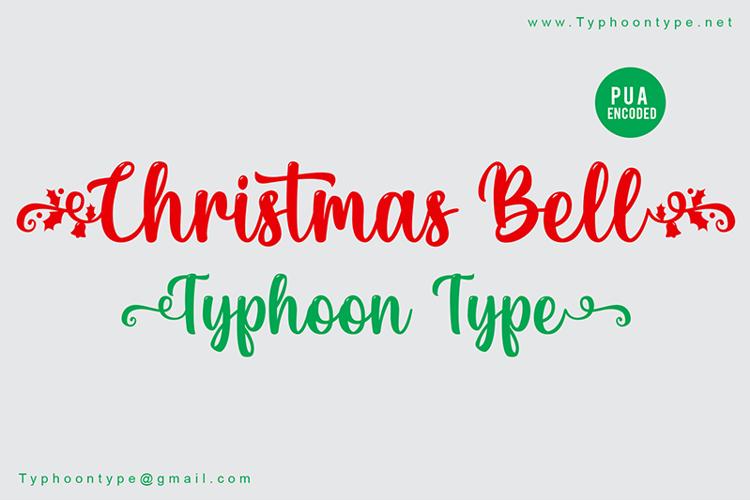 Christmas Bell Font