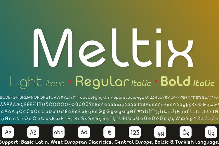 Meltix Bold Demo Font