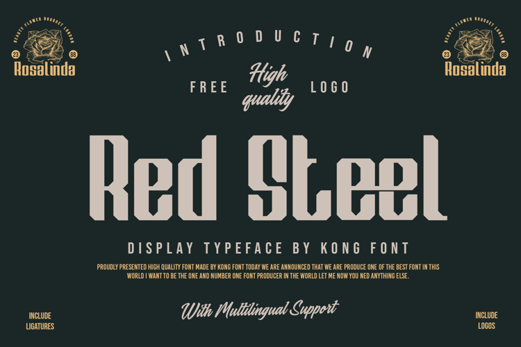 Red Steel Font