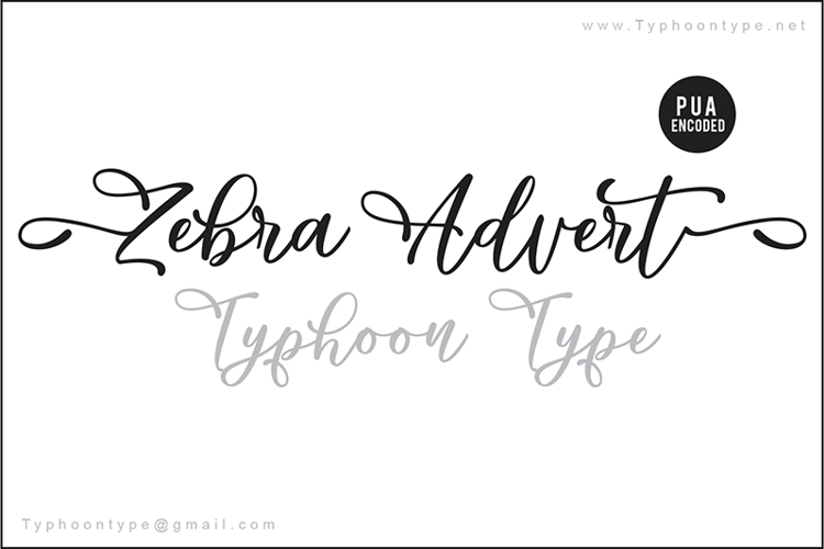 Zebra Advert (Personal Use) Font