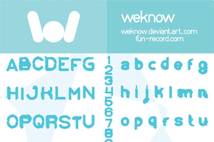 Eskimo and Polar Bear Font