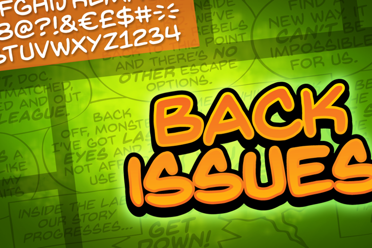 Back Issues BB Font