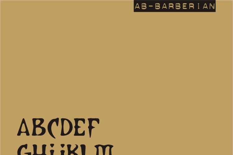 AB Barberian Font