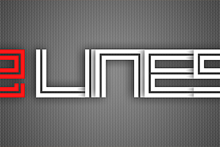 2 Lines Font