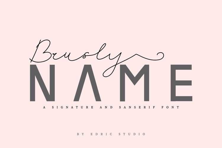 Brusly Name Sanserif Font