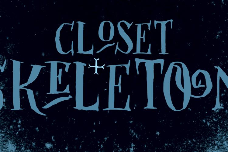 DK Closet Skeleton Font