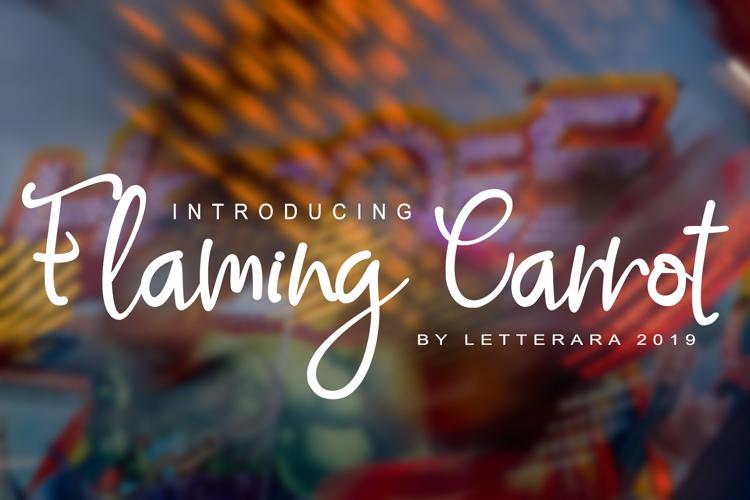 Flaming Carrot Font