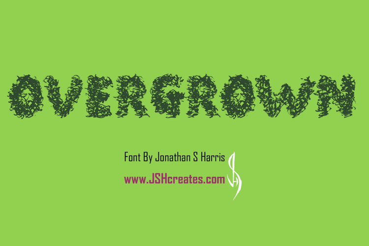 Overgrown Font