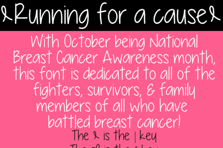 Running for a cause Font
