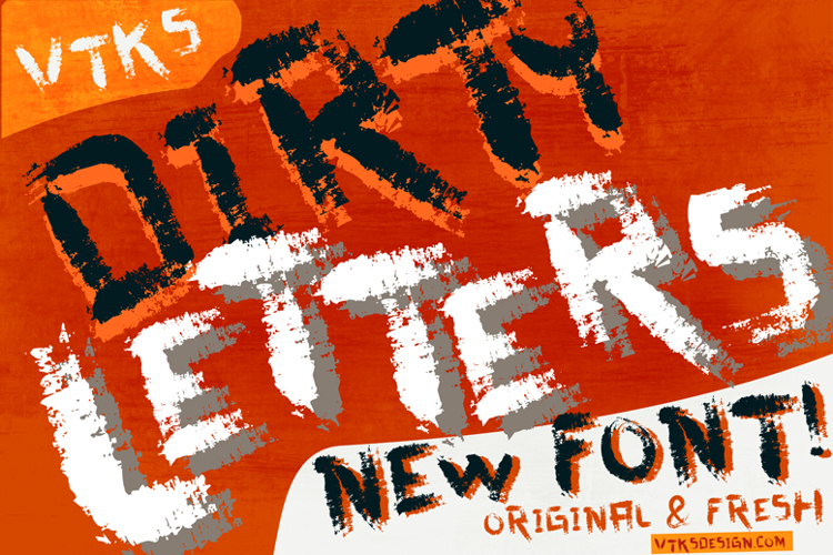 vtks dirty letters Font