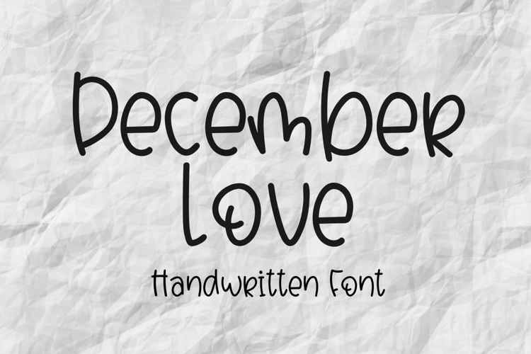 December Love Font
